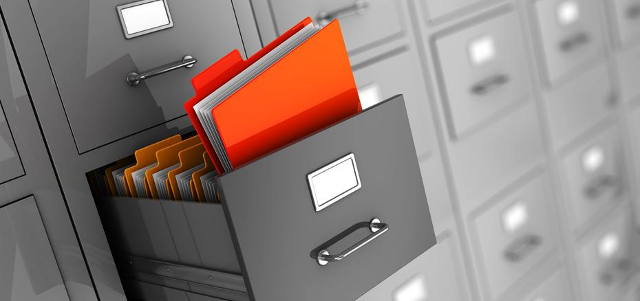 Ящик с папками