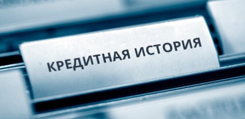 """Плашка с надписью """"Кредитная история"""""""