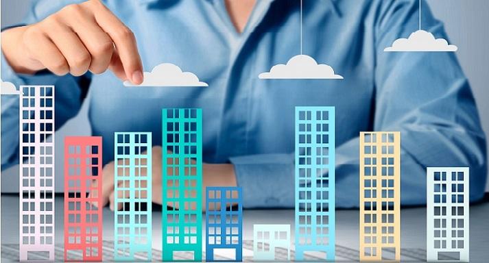 Схематичное изображение жилого квартала из бумаги